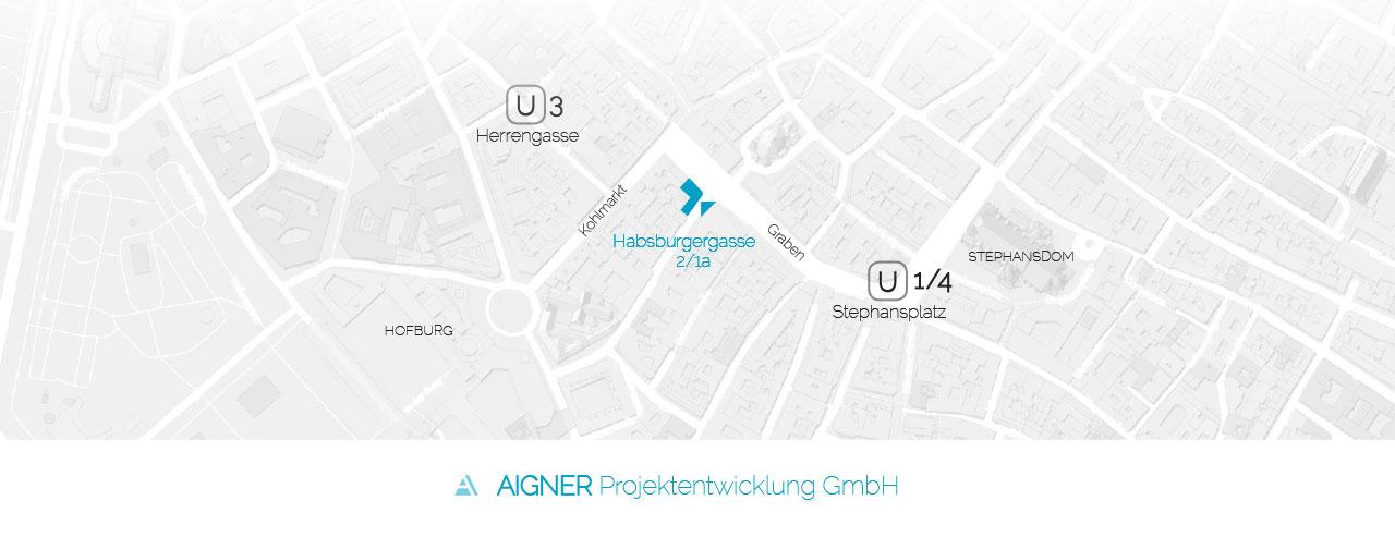 Lageplan AIGNER Projektentwickluing GmbH Habsburgergasse 2/1a A-1010 WIEN